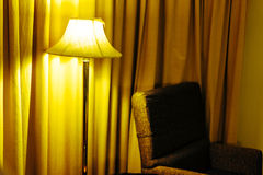 Lamps and a sofa in the bedroom. Royalty Free Stock Photos