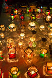 Lamps from the souk in Marrakesh at night Royalty Free Stock Photos