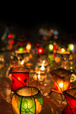 Lamps from the souk in Marrakesh at night Stock Photos