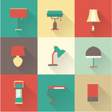 Lamps styles Royalty Free Stock Image
