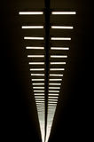 Lamps in subway. Row of lapms on the ceiling of the underground hall Royalty Free Stock Photography