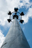 Lamps tower. A halogen lamps tower in a public garden Royalty Free Stock Images