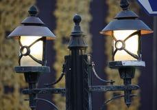Lamps. Urban lighting street lamps in Kemer Stock Photography