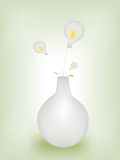 Lamps in vase Royalty Free Stock Photos