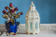 Lamps and vases with vintage Stock Photos