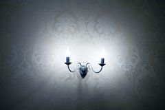 Lamps on the wall Royalty Free Stock Photo