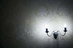 Lamps on the wall Stock Photos