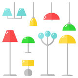 lamps on white background. Royalty Free Stock Photos