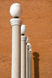 Lamps on white columns Royalty Free Stock Photos