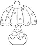 Lampshade coloring page Royalty Free Stock Images