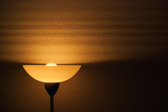 Lampshade on wallpaper Stock Photos