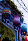 Lampshades of Chefchaouen, Morocco Royalty Free Stock Images