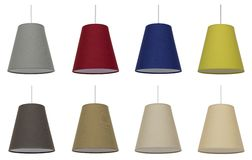 Lampshades Collage.   Decor. Royalty Free Stock Photo