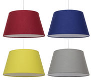 Lampshades Collage.   Decor. Stock Photo