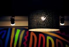 Lampskärmljus Arkivbild
