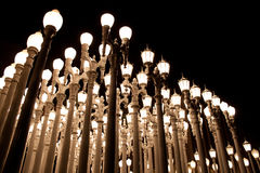 lampstolpar Arkivfoto
