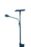 Lampstolpe för sol- cell Arkivbilder