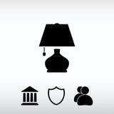 Lampsymbol, vektorillustration Sänka designstil Arkivfoto