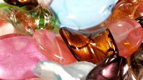 Стеклянные бусины Lampwork сток-видео
