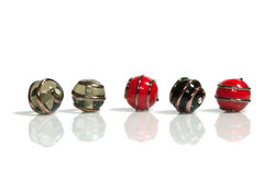 Lampwork beads Stock Photography