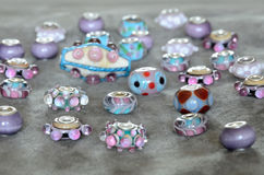 Lampwork beads Stock Images