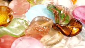 Lampwork glass beads stock video footage