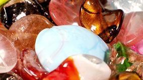 Lampwork glass beads stock video