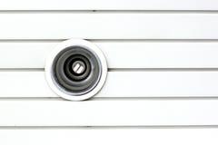 Lampy downlight instalujący w Lath bielu. Obrazy Stock