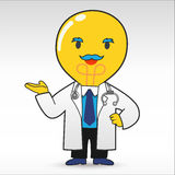 Lampy głowy lekarka ilustracji
