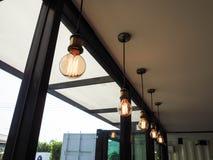 Lampy linia Fotografia Royalty Free