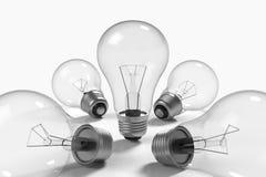 Lampy na biały tle ilustracja wektor