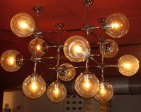 Lampy od DDR SED pałac fotografia royalty free