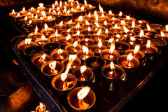 Lampy, symbol dla ono modli się dla pokoju Obrazy Royalty Free
