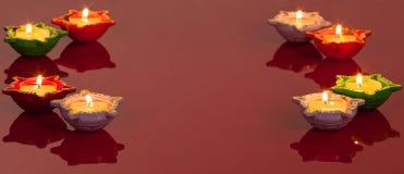 Lampy TARGET241_0_ Hinduskiego Festiwal Diwali obraz stock