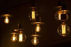 Lampy w barze Zdjęcia Stock