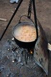Lamsborsjt in pot Stock Foto's