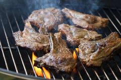 Lamskoteletbarbecue Stock Afbeeldingen