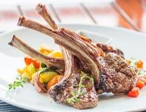 Lamslapje vlees of lamskoteletten Royalty-vrije Stock Foto