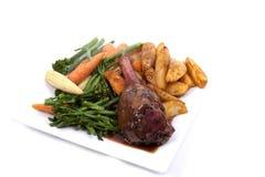 Lamssteel met groente Royalty-vrije Stock Foto