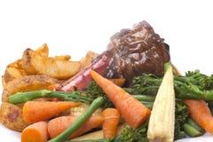 Lamssteel met groente Royalty-vrije Stock Foto's