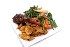 Lamssteel met groente Royalty-vrije Stock Afbeelding
