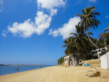 Lamu beach, Kenya. View at Lamu beach, Kenya royalty free stock image