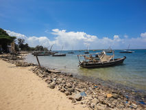 Lamu island in Kenya. View at Lamu island in Kenya royalty free stock images