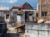 Lamu, Kenia Visión urbana Foto de archivo libre de regalías