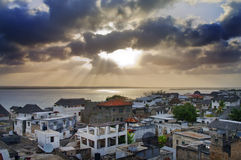 Lamu Town on Lamu Island in Kenya. Stock Photo
