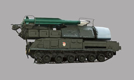 Lançador de míssil soviético coberto com a neve Imagens de Stock Royalty Free