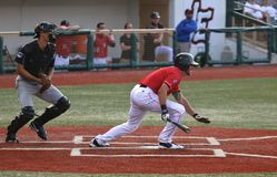 Lançador do basebol Fotografia de Stock Royalty Free