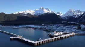 Lançamento da balsa de Alaska video estoque