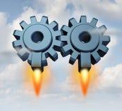 Lançamento da parceria do negócio Imagem de Stock