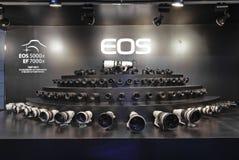 Lançamento de produto novo da câmera do eos de Canon Imagem de Stock